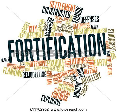 Clip Art of Fortification k11702952.