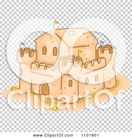 Clipart Fortified Sand Castle.