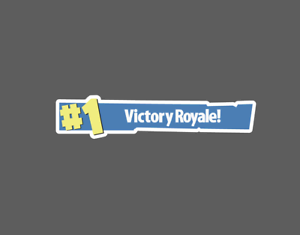 Fortnite First place 1 Victory Royale Banner Sticker eBay.