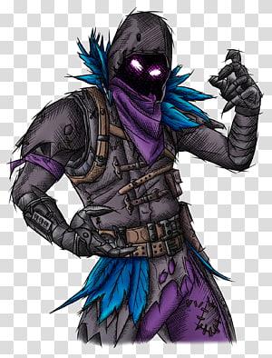 Character illustration, Fortnite Battle Royale Common raven.