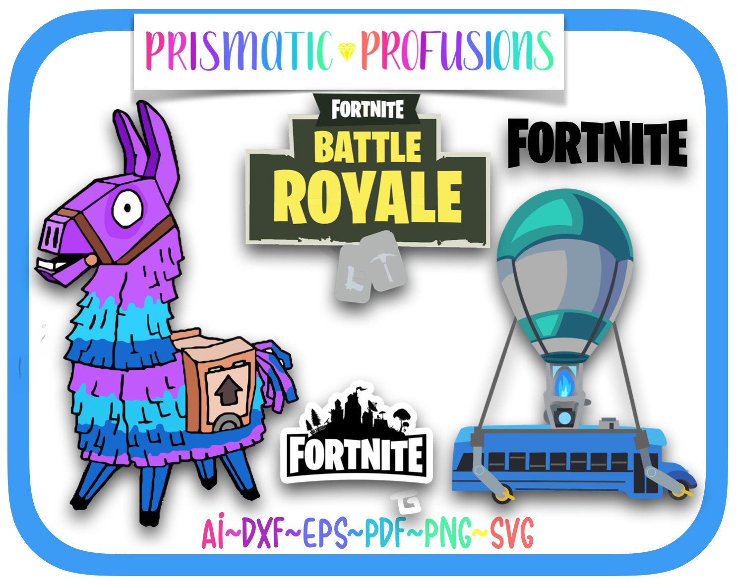 Fortnite, Fortnite SVG, Fortnite Clipart, Fortnite Birthday.