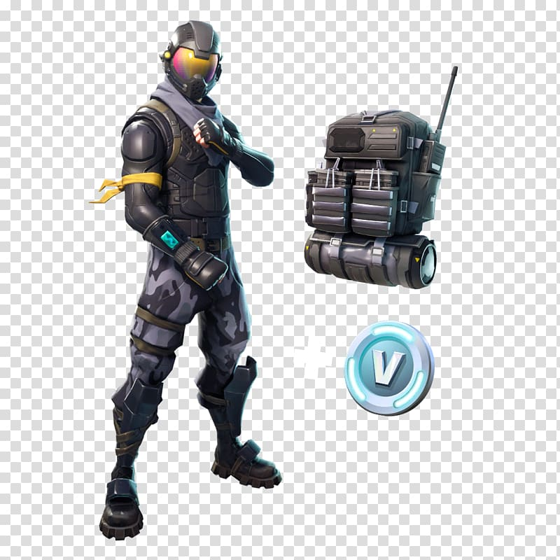Person wearing suit illustration, Fortnite Battle Royale.