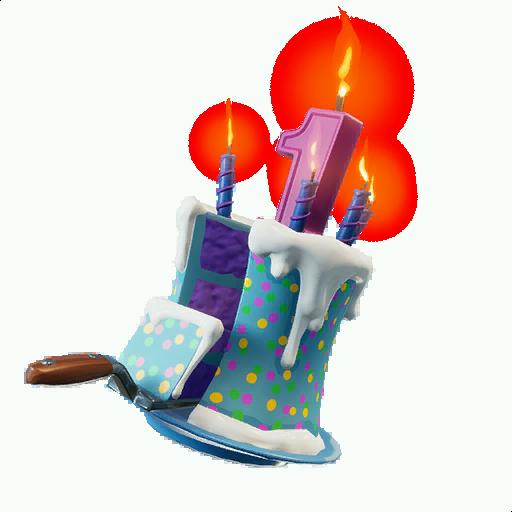 Rare Birthday Cake Back Bling Fortnite Cosmetic Birthday Challenges.