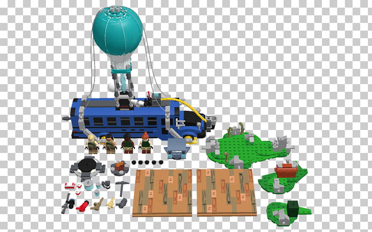 LEGO Fortnite Battle Royale Bus Battle royale game, bus PNG.