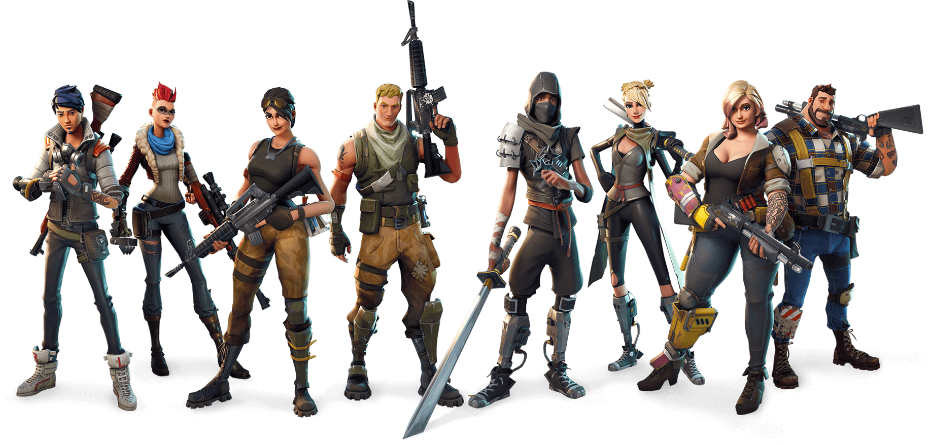 Download Fortnite Class Characters PNG Image for Free.