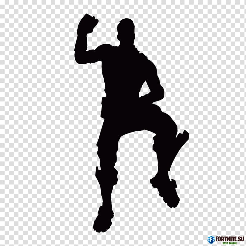 Fortnite character silhouette , T.