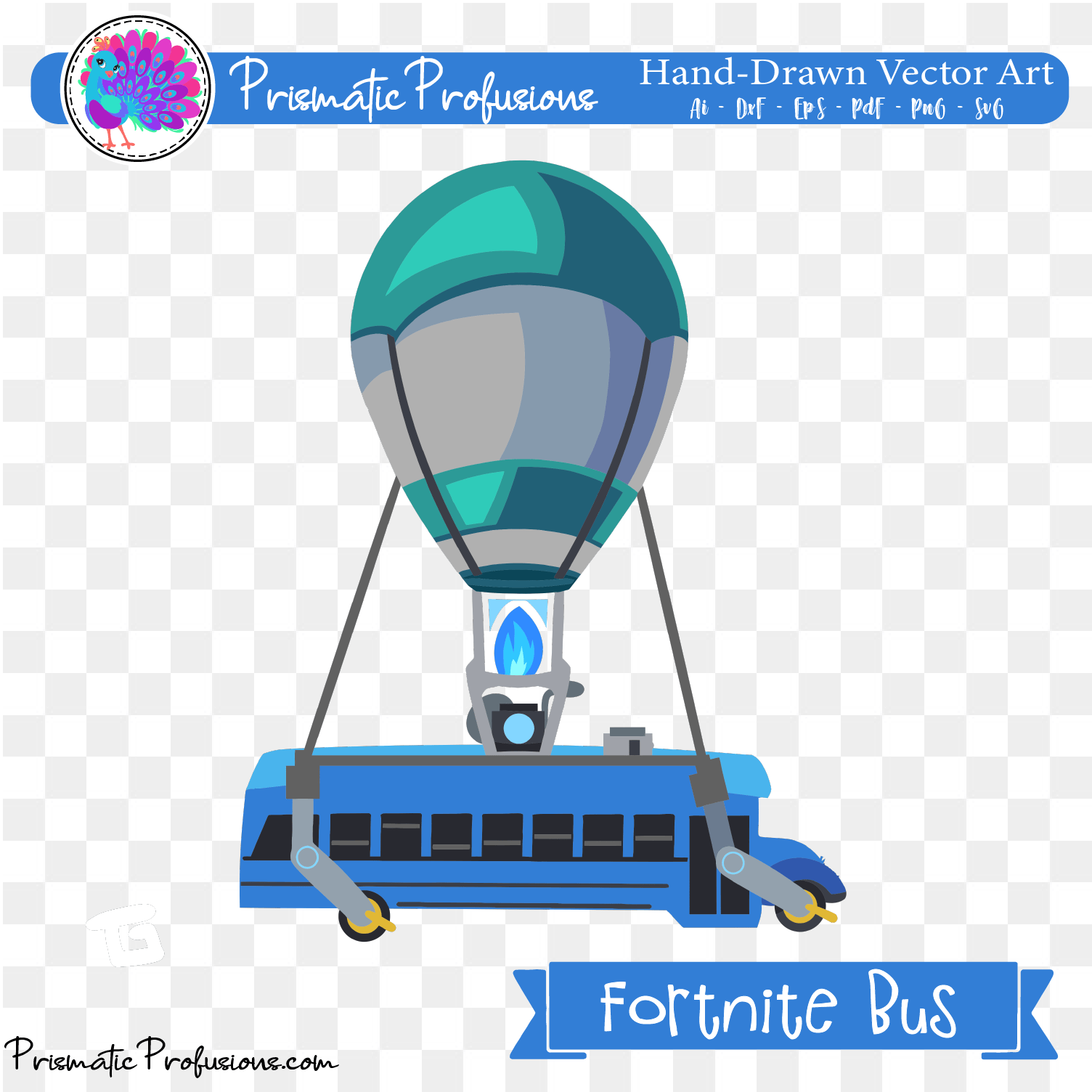 Fortnite Bus, Fortnite Bus SVG, Fortnite Bus Clipart.