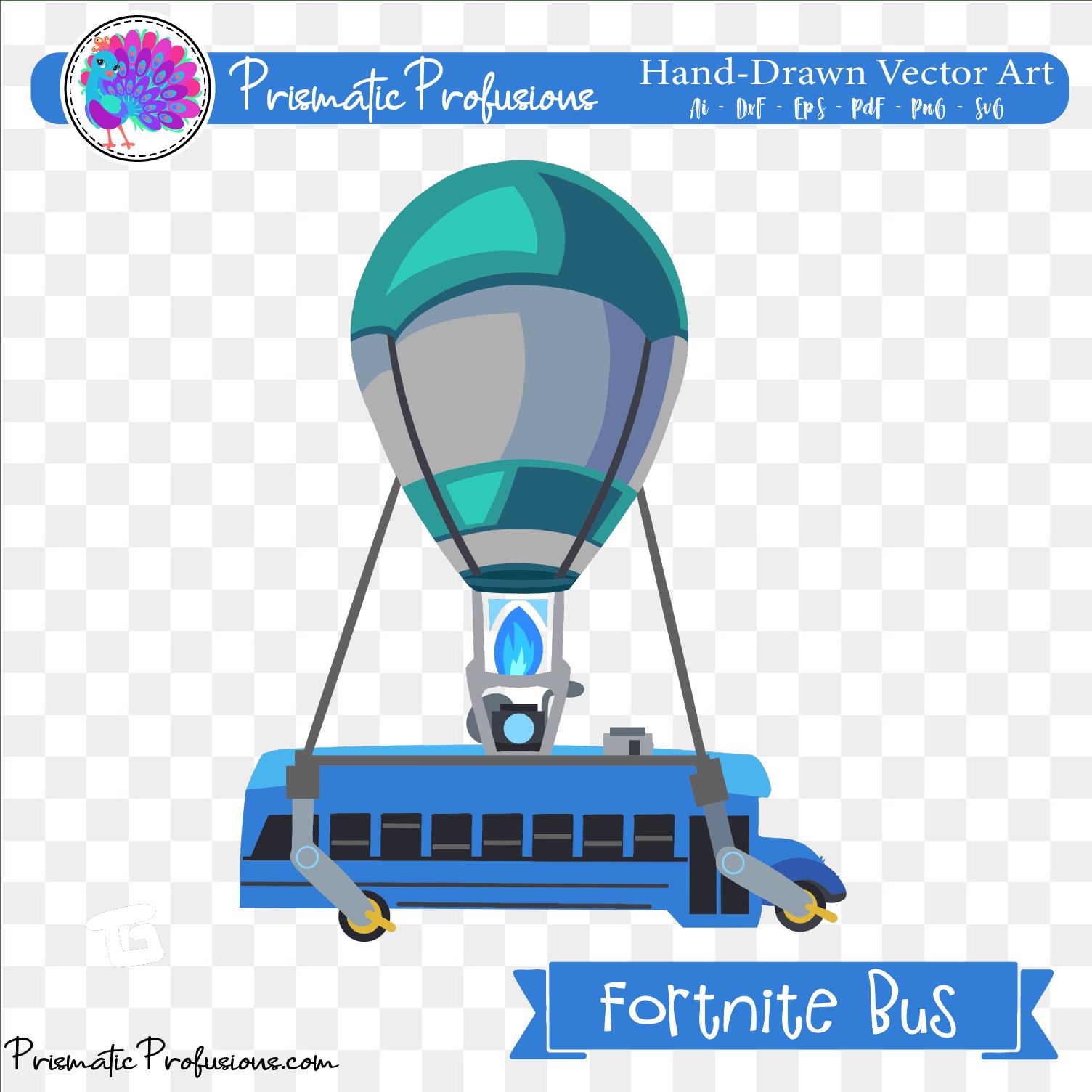 Fortnite Bus, Fortnite Bus SVG, Fortnite Bus Clipart.