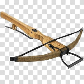 Of brown crossbow, Medieval Crossbow transparent background.