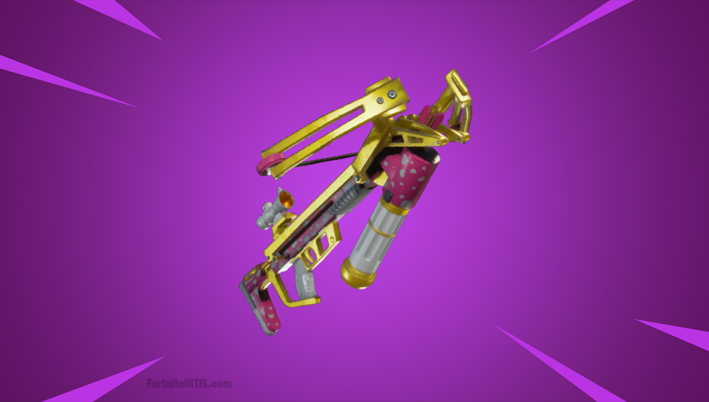 Fortnite Limited Time Item 'Cupid's Crossbow' statistics.