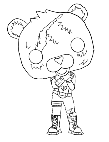 Fortnite Cuddle Team Leader coloring page.