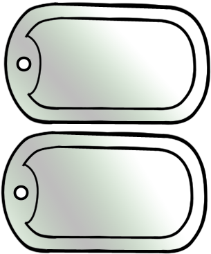 Army Dog Tag Craft Template for Kids in 2019.