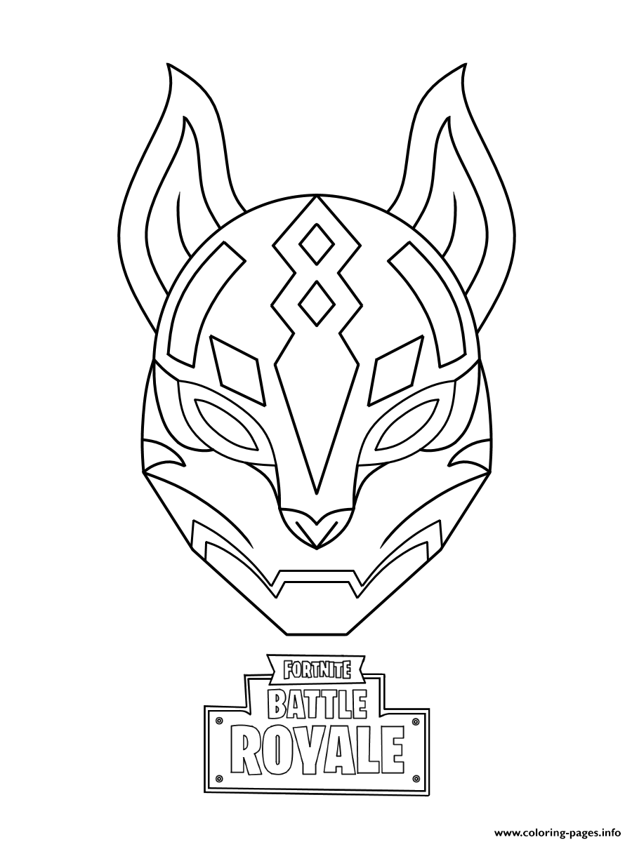 Print drift ultimate mask fortnite coloring pages in 2019.