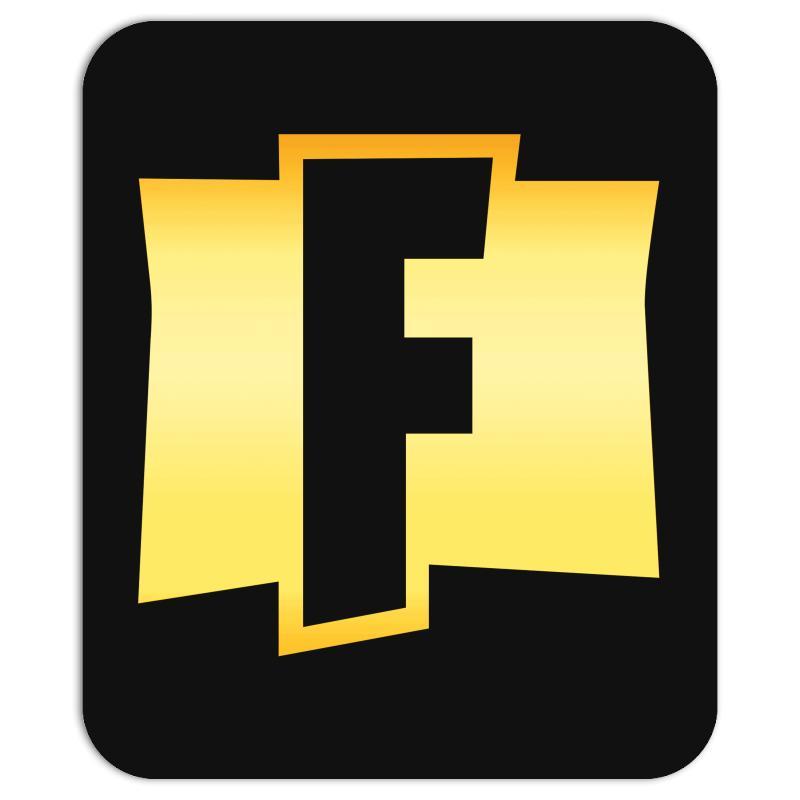 Fortnite F Logo Gold Mousepad. By Artistshot.