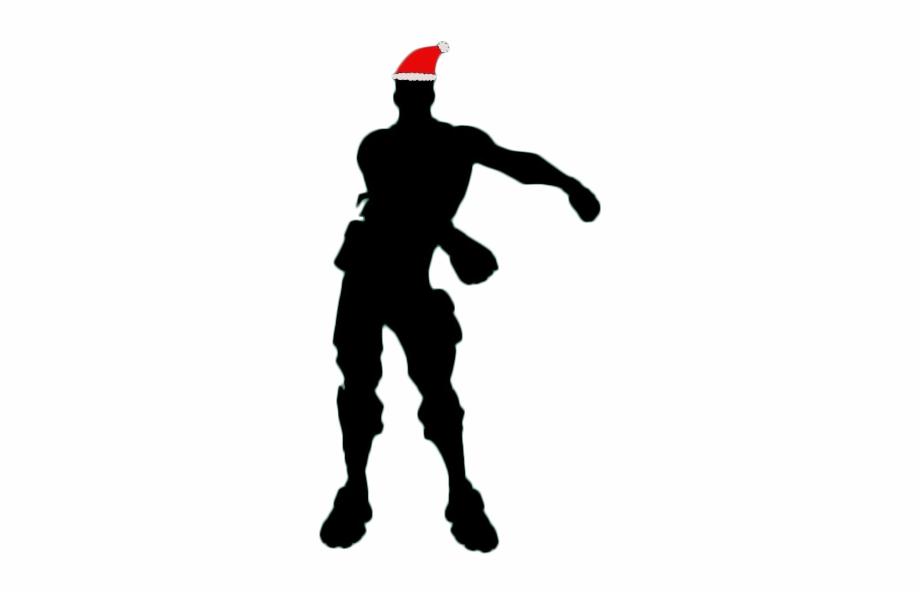 Floss Fortnite Christmas Siloet.