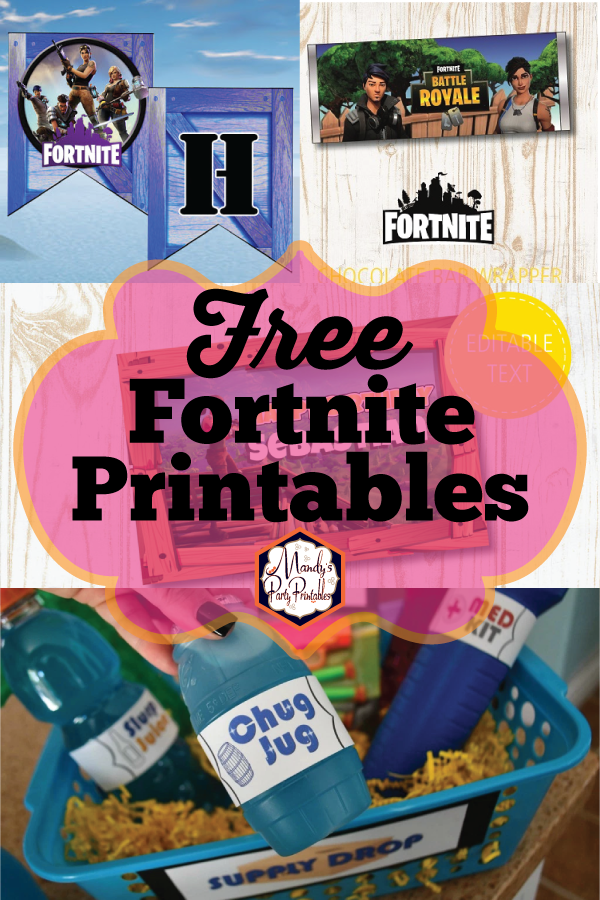 Free Fortnite Party Printables.