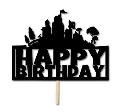Birthday Black and White Logo.