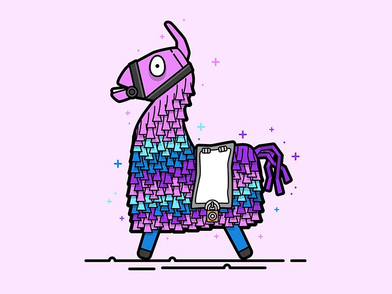 Fortnite Loot Llama Vector Illustration in 2019.