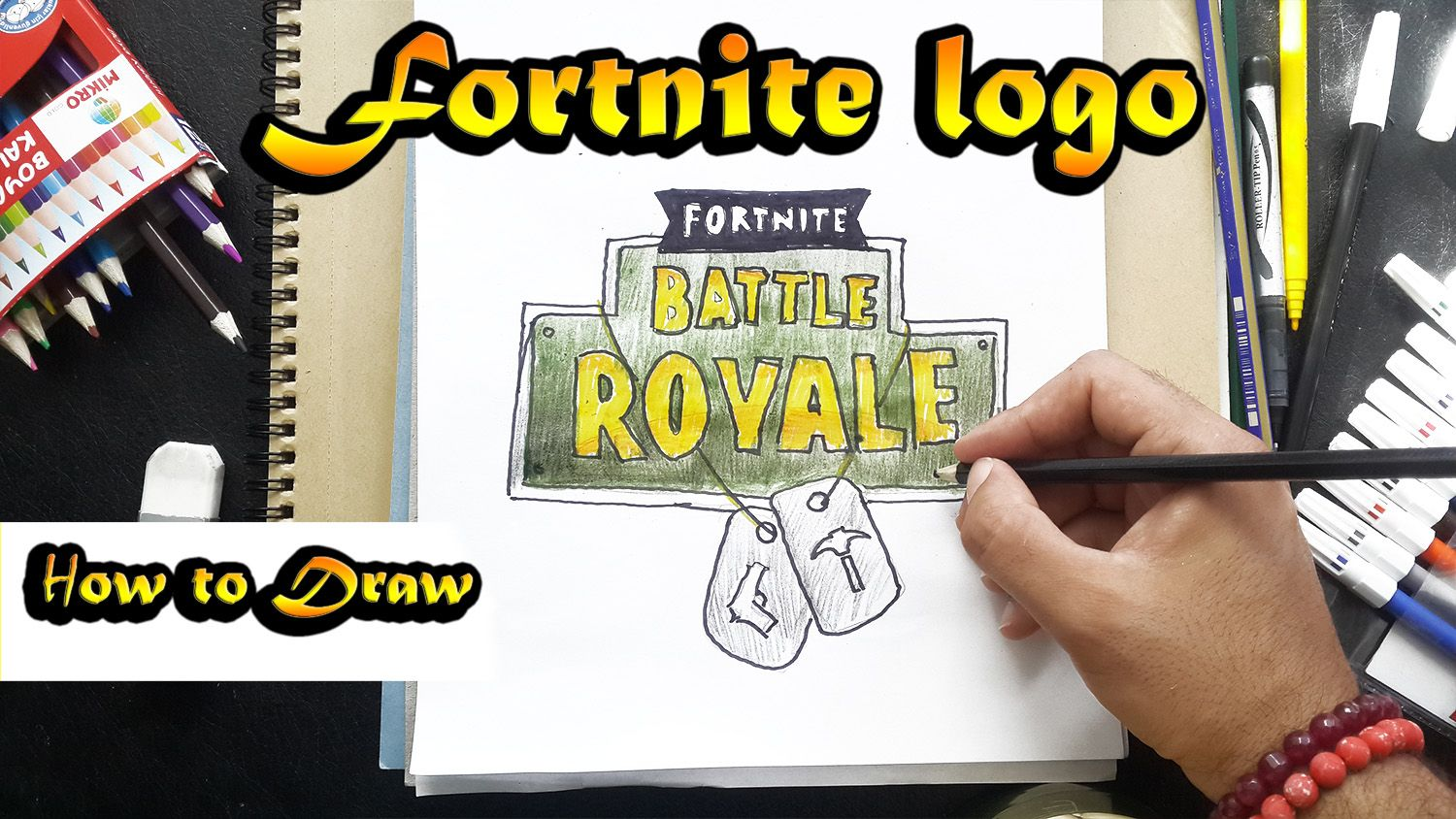 How To Draw FORTNİTE LOGO.