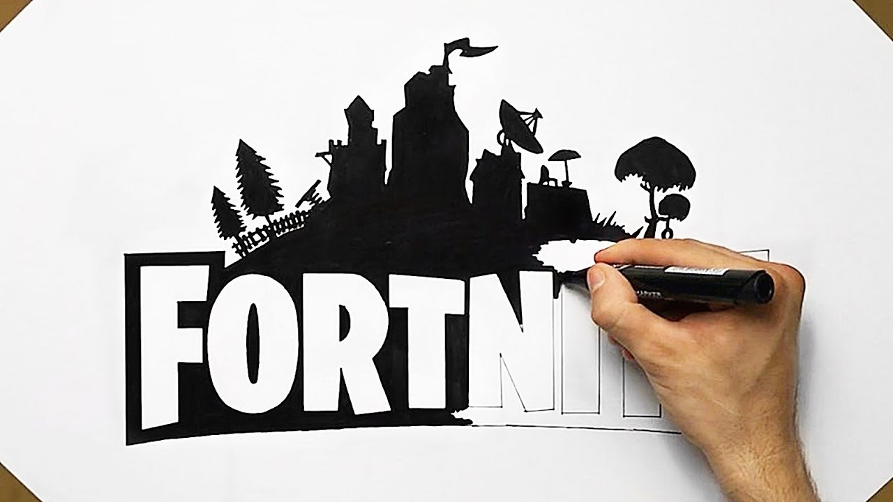 How To Draw Fortnite Logo Like A PRO.