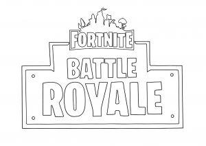 Coloring Fortnite Battle Royale Logo.