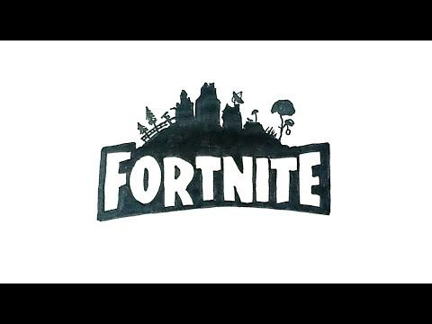 How to Draw the Fortnite Logo in 2019.