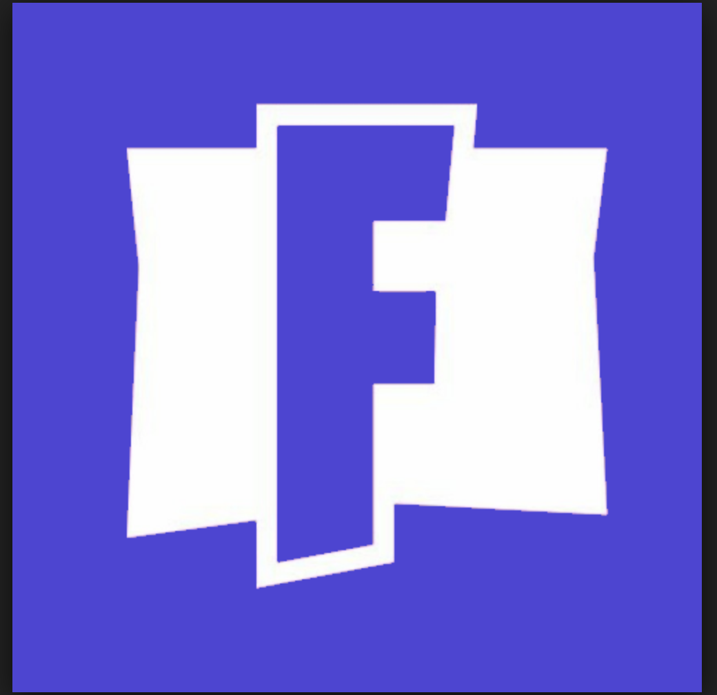 This is the Fortnite Logo, which consists of 2 colors and.