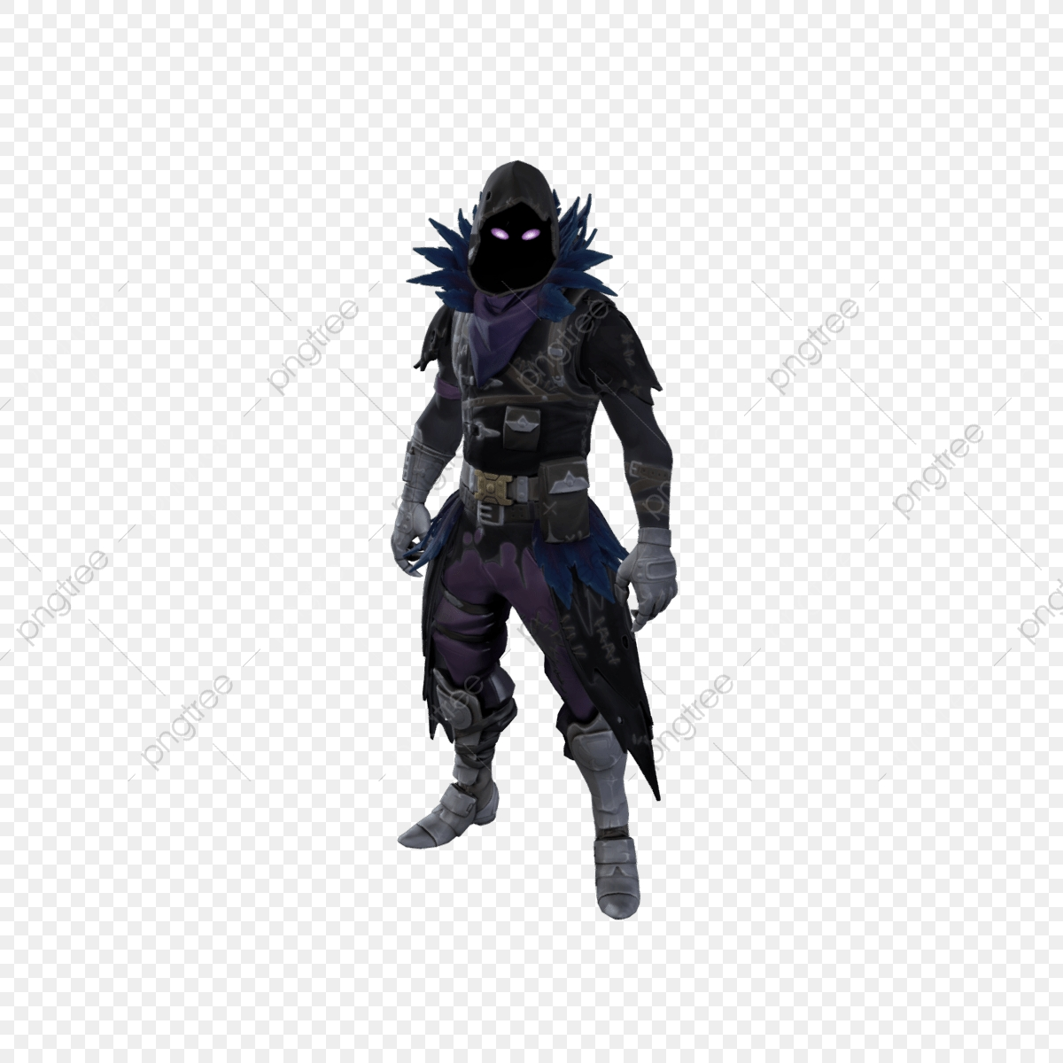 Raven, Fortnite, Video PNG and Vector with Transparent Background.