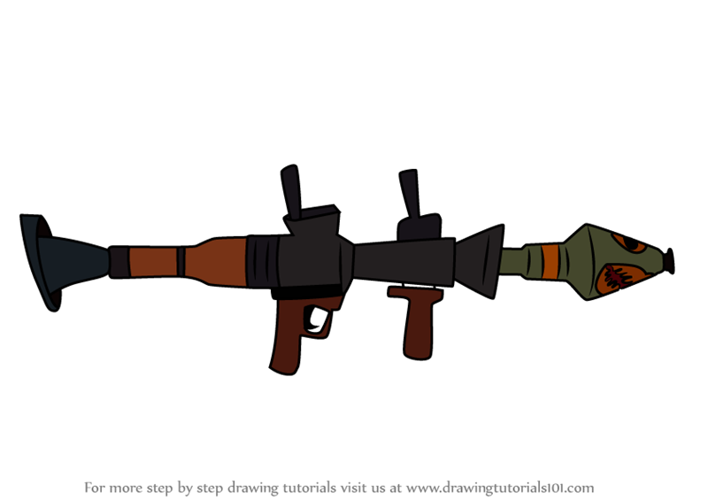 Learn How to Draw Rocket Launcher from Fortnite (Fortnite) Step by.