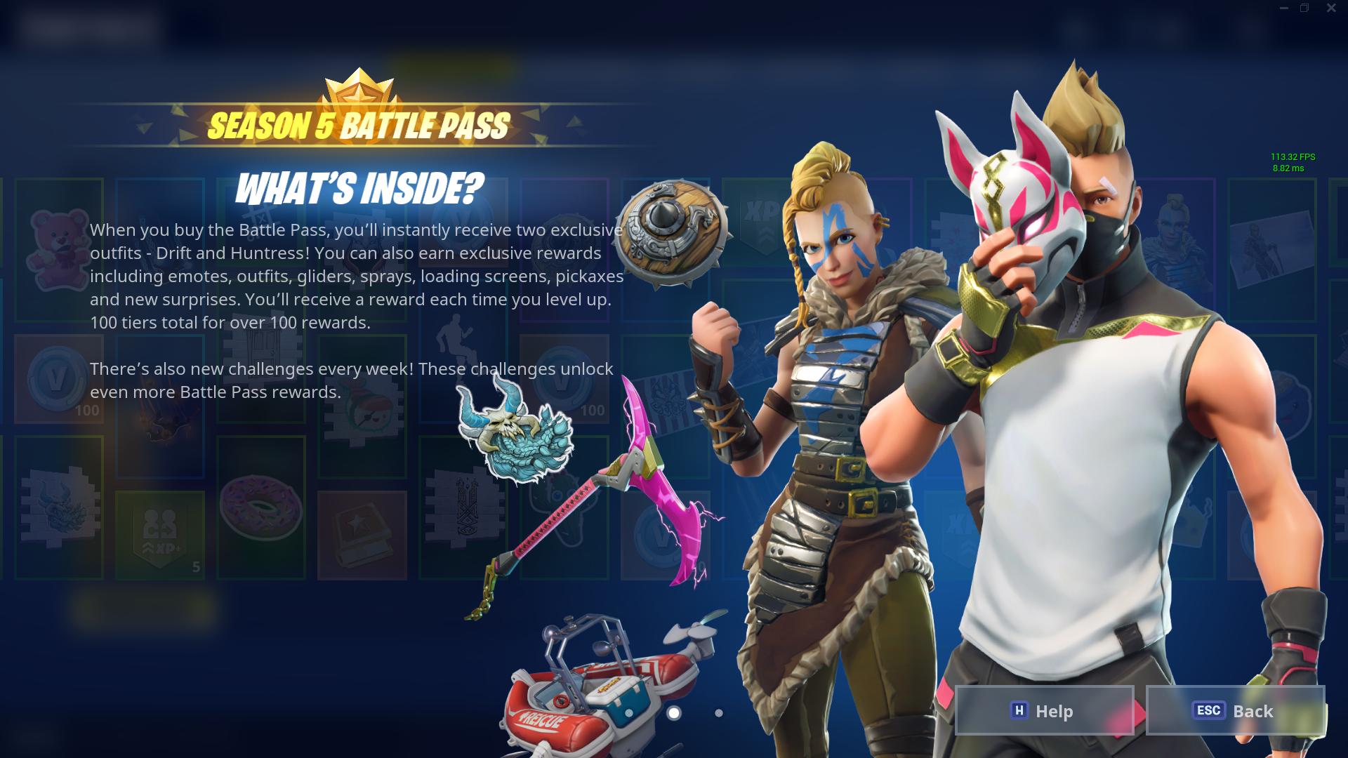 Fortnite Season 5 skins, challenges and news.