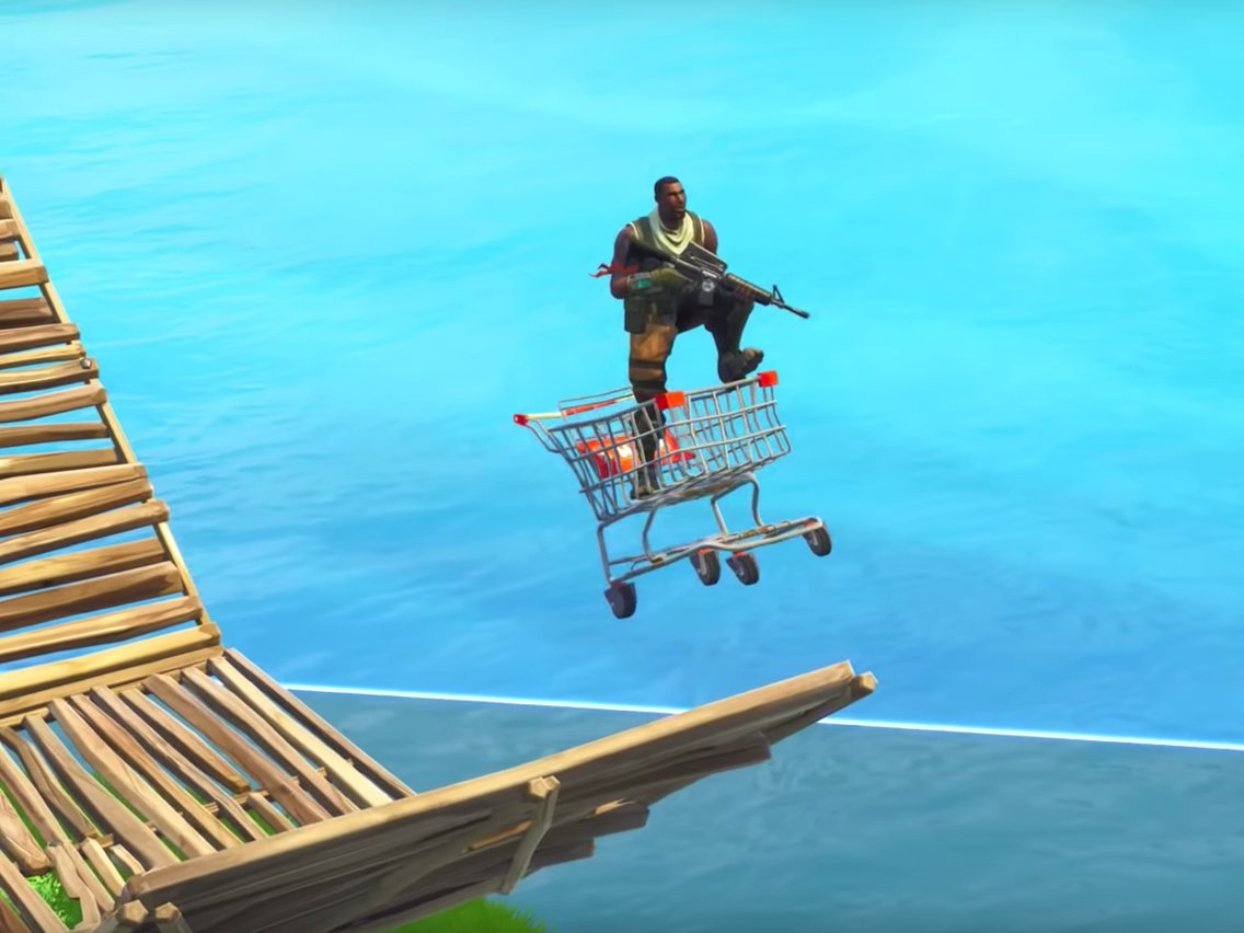 How to find and use the new shopping cart in 'Fortnite: Battle.