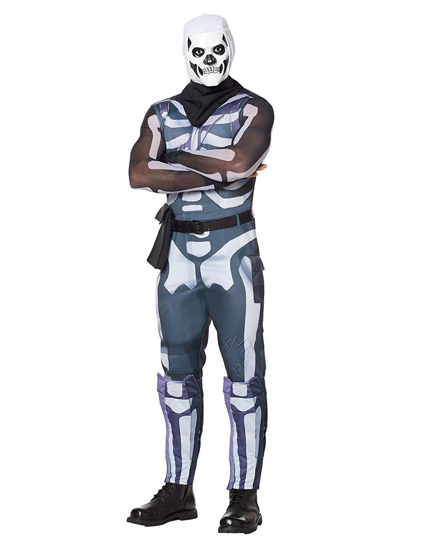 Spirit Halloween Adult Fortnite Skull Trooper Costume for Adults.
