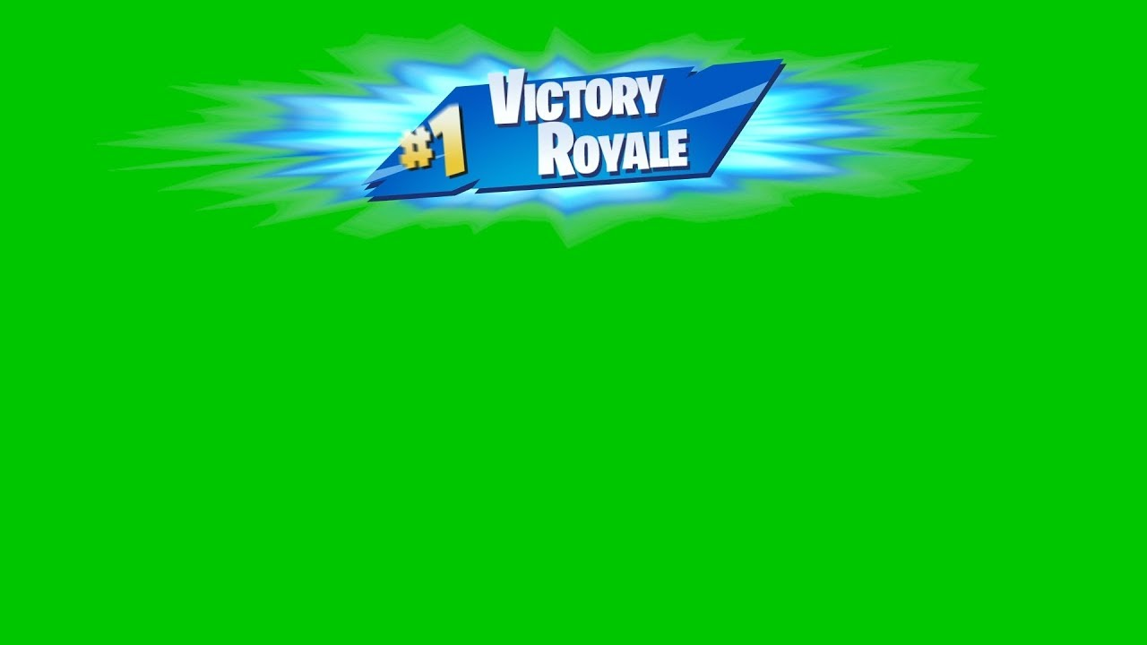 Fortnite Victory Royale green screen (with alpha channel).