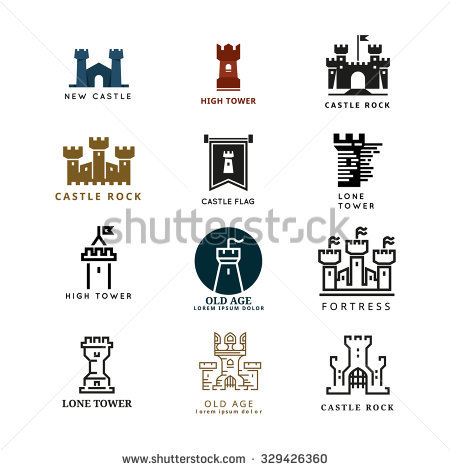 Vector Images, Illustrations and Cliparts: Castle, fortress vector.