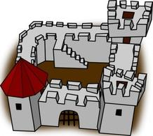 Fortress clip art Free Vector.