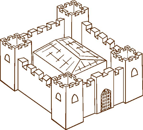 Fortress clip art Free Vector / 4Vector.