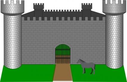 Fortress Clip Art, Vector Fortress.