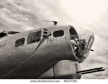 Old Bomber Plane Stock Photos, Royalty.
