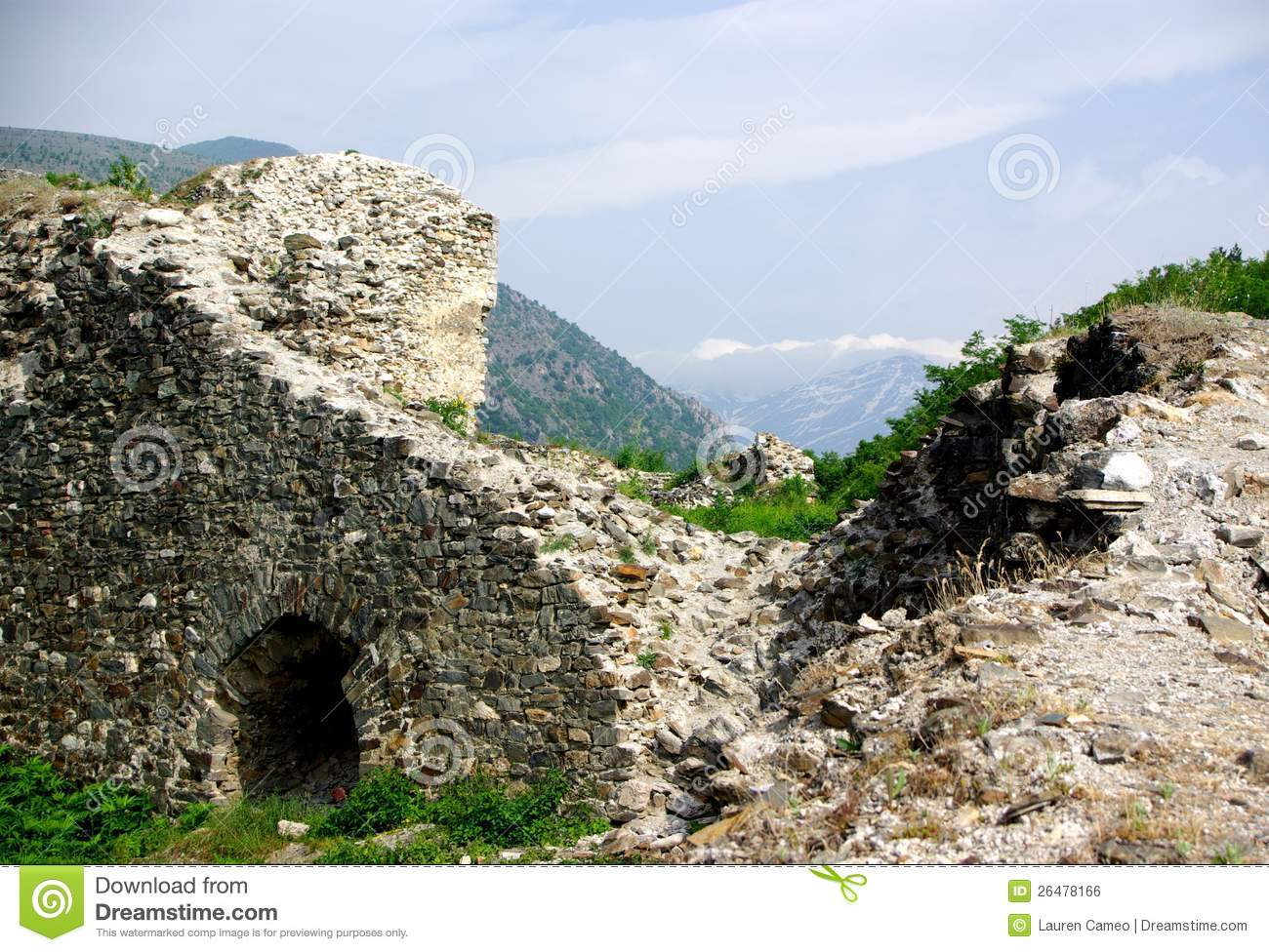 Prizren Fortress & Mountain Royalty Free Stock Image.