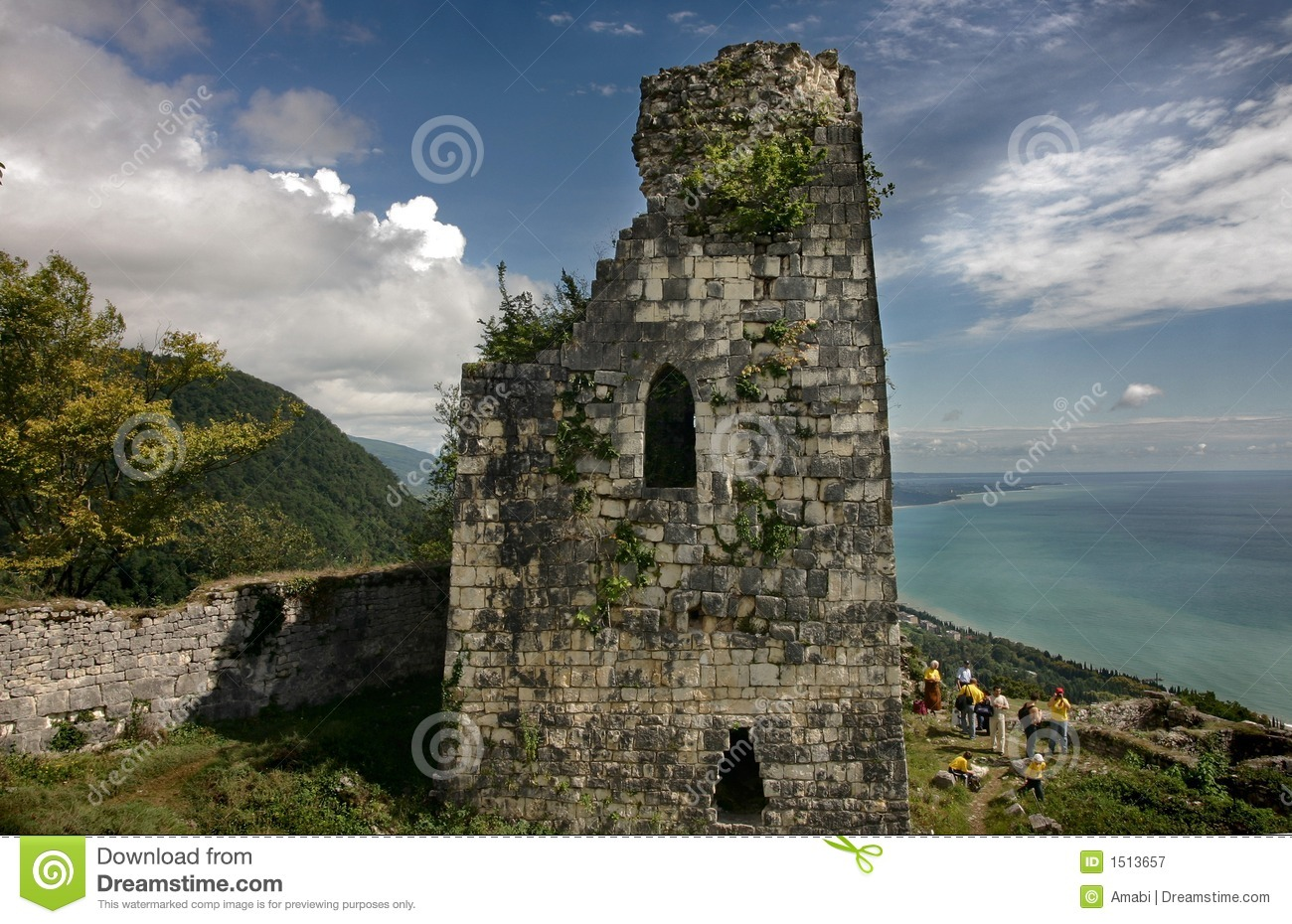 Ancient Greek Fortress In Mountains Royalty Free Stock Photography.