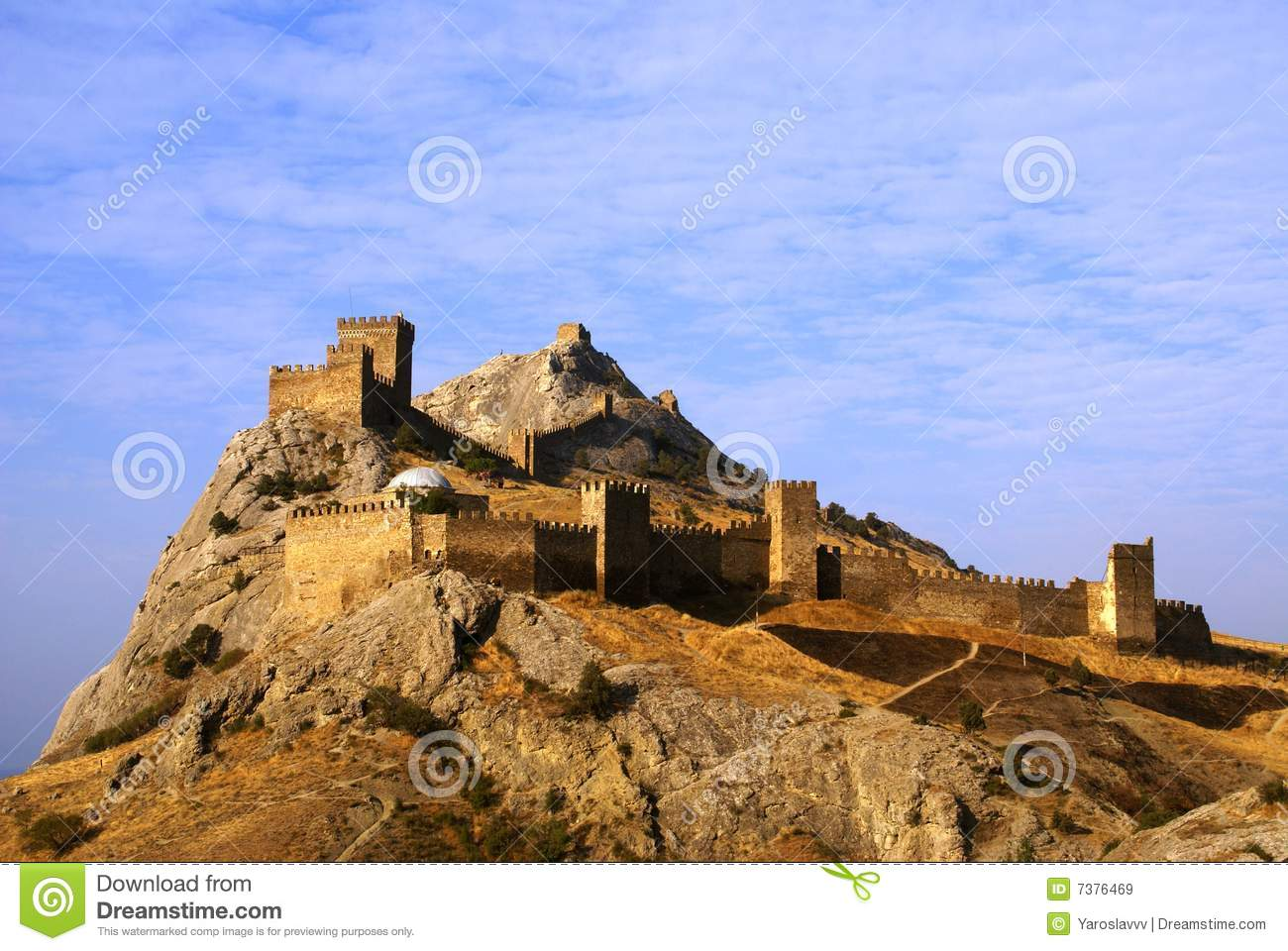 Medieval Fortress On Mountain In Crimea Royalty Free Stock Images.