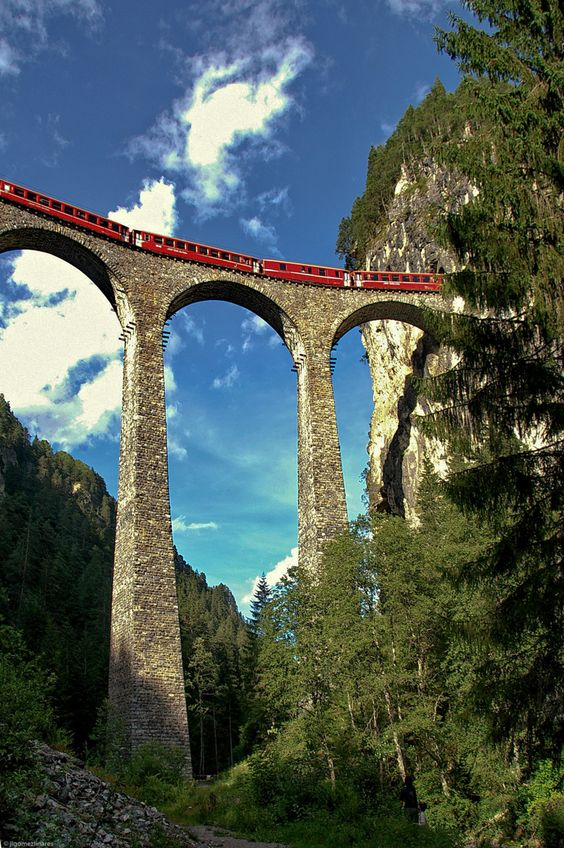 Landwasser Viaduct, Switzerland.