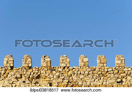 "Picture of ""Ramparts of Venetian Koules Fortress or Rocca al Mare."