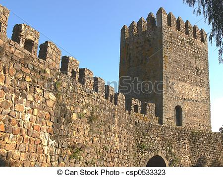 Stock Photos of Ramparts & Tower.