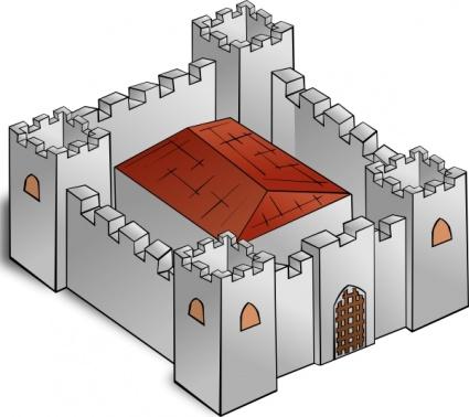 Fortress clip art Free Vector.
