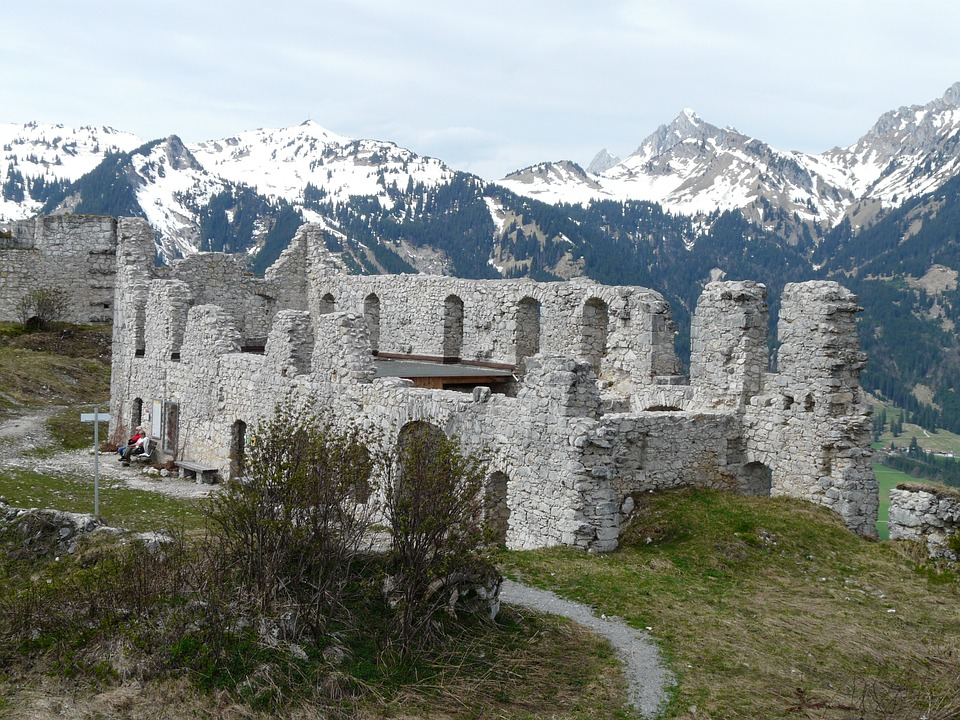 Free photo: Ruin, Castle, Fortress Schlosskopf.