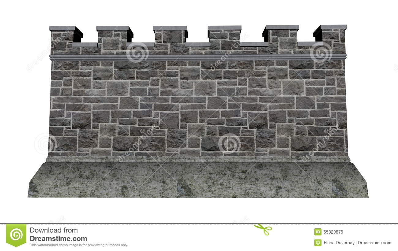 Fort Wall Stock Illustrations.
