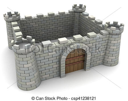 Clip Art of fortress.