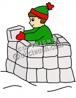 Snow fort clip art.