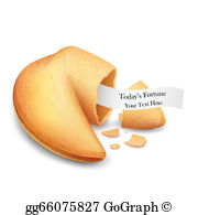 Fortune Cookie Clip Art.